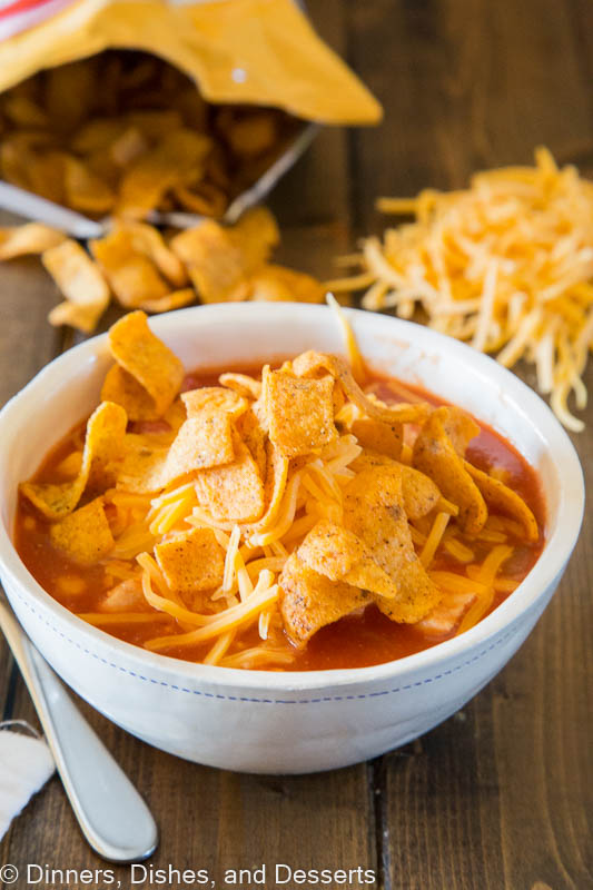 Chicken Enchilada Chili - an easy enchilada soup you can make any night of the week.