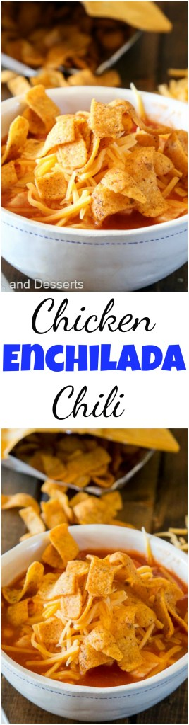 Chicken Enchilada Chili - a favorite mexican dinner gets turned into a 20 minute warm and comforting chili!  Great for any night of the week.
