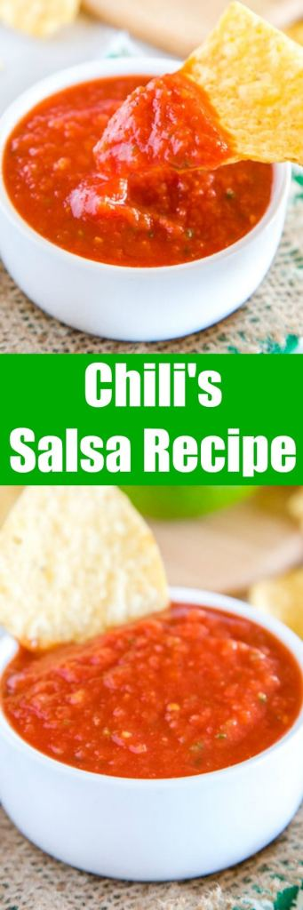 Chili's Salsa Recipe - do you love the restaurant Chili's chips and salsa? It is so easy to make at home year round!  Great for taco night, game day or just because!