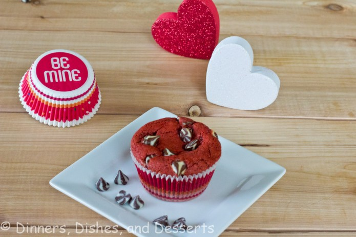 red velvet muffins on a plate