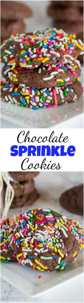 Chocolate cake mix cookies collage
