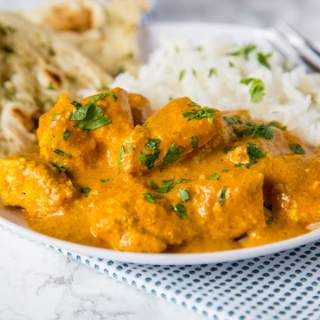 A plate of Chicken and Tikka