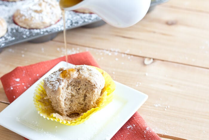 French Toast Muffins - Muffins with maple syrup and a hint of cinnamon, taste just like french toast. Top with powdered sugar and maple syrup for a true French Toast experience!