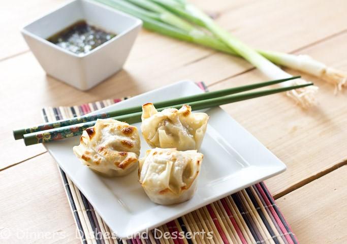Asian Dumplings With Dipping Sauce