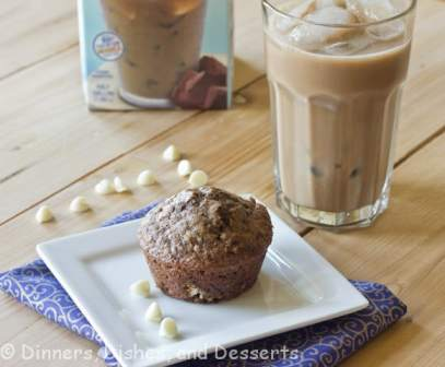 Mocha Muffins - Moist chocolate muffins with a hint of coffee flavor. Great with a cup of coffee for breakfast or a snack.