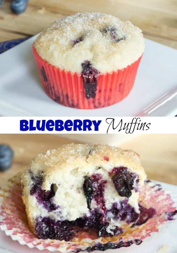 Blueberry muffins collage