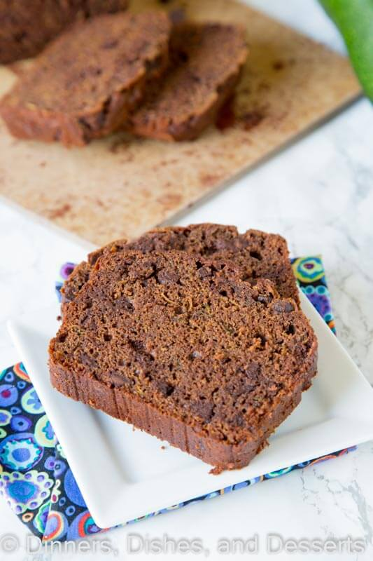 Double Chocolate Zucchini Bread - Rich and chocolatey bread that uses all of that summer zucchini. You will never know there are veggies in there!