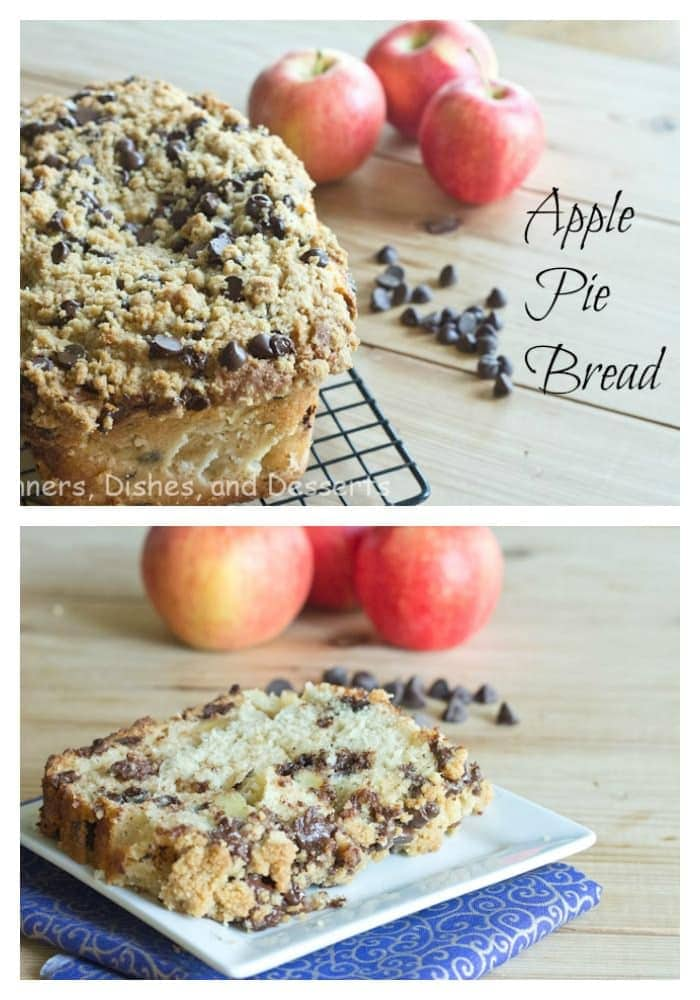 Apple Pie Bread with Chocolate Chip Streusel