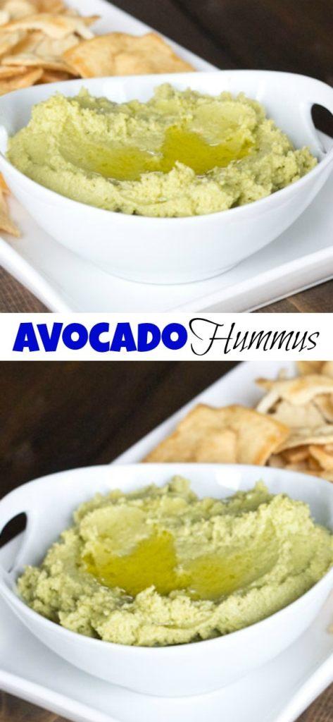 avocado hummus in a bowl