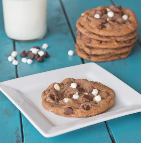 hot chocolate cookies on a plate