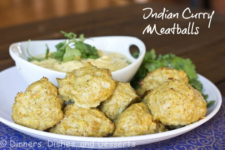 indian curry meatballs on a plate