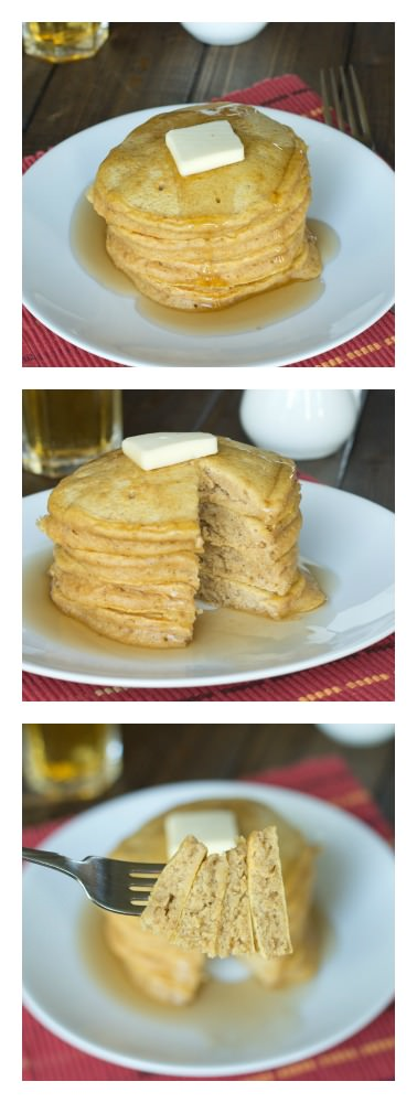 Brown Butter Pumpkin Pancakes - Fluffy pancakes with nutty brown butter and pumpkin!