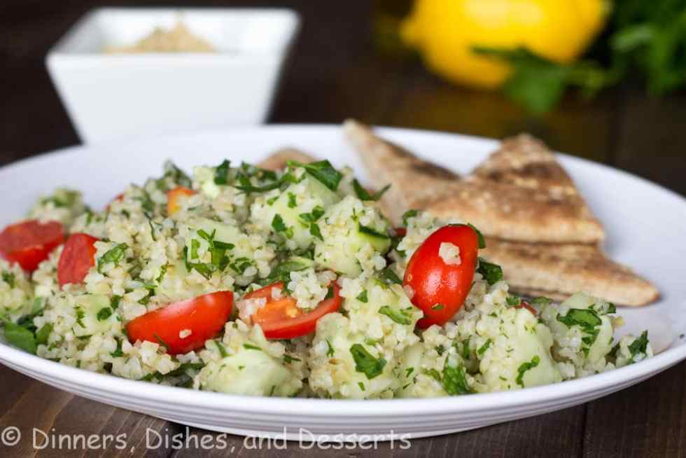 tabbouleh salad on a plate