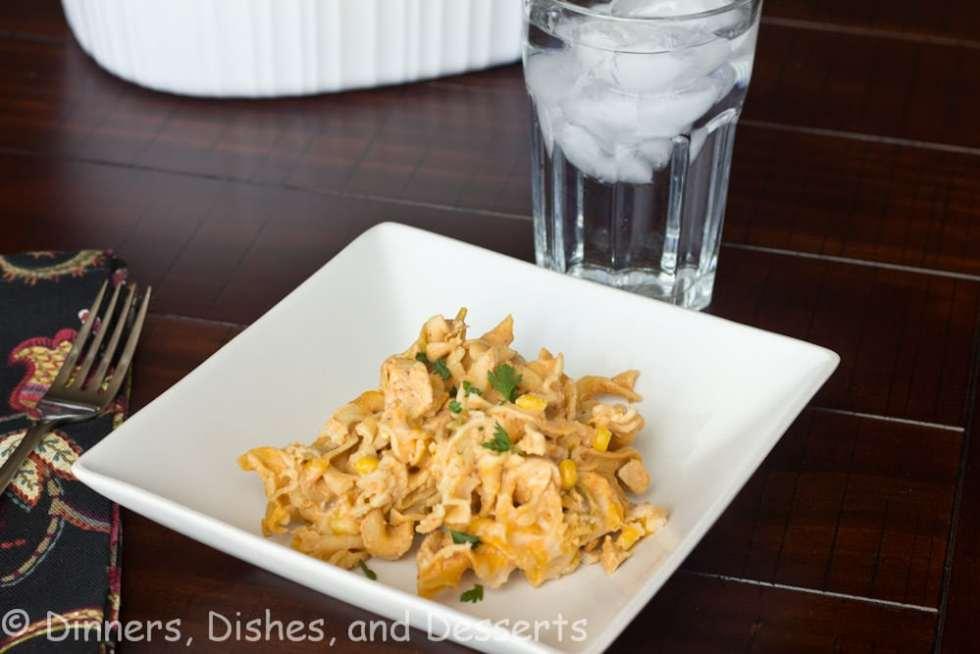 enchilada pasta on a plate