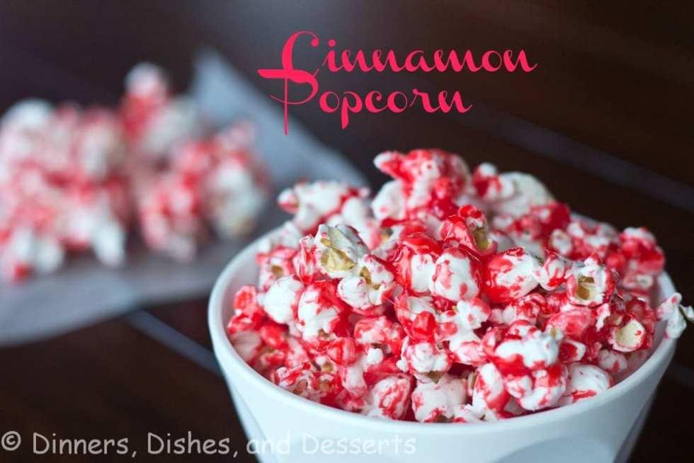 rachel rays cinnamon popcorn in a bowl