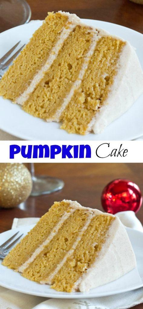 pumpkin cake close up