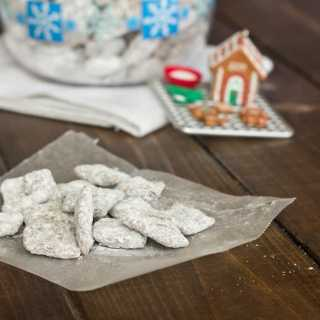 puppy chow on a table