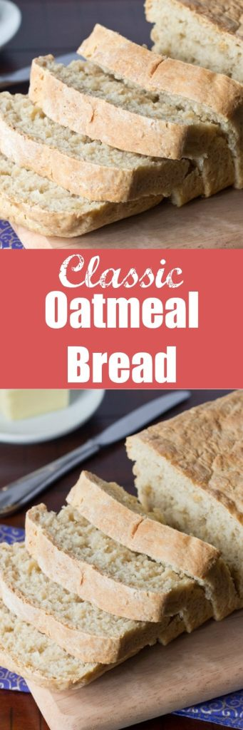 Classic Oatmeal Bread - Soft and tender bread that is amazing fresh out of the oven! The oats give it a great texture and makes great sandwiches and toast, or just have a slice slathered with butter.