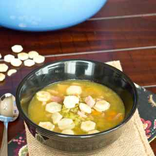 Split Pea Soup - Using leftover ham makes the best soup!  This split pea with ham soup is comforting, delicious and makes a great meal!