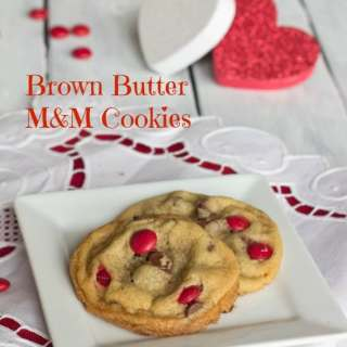 Brown Butter M&M Cookies