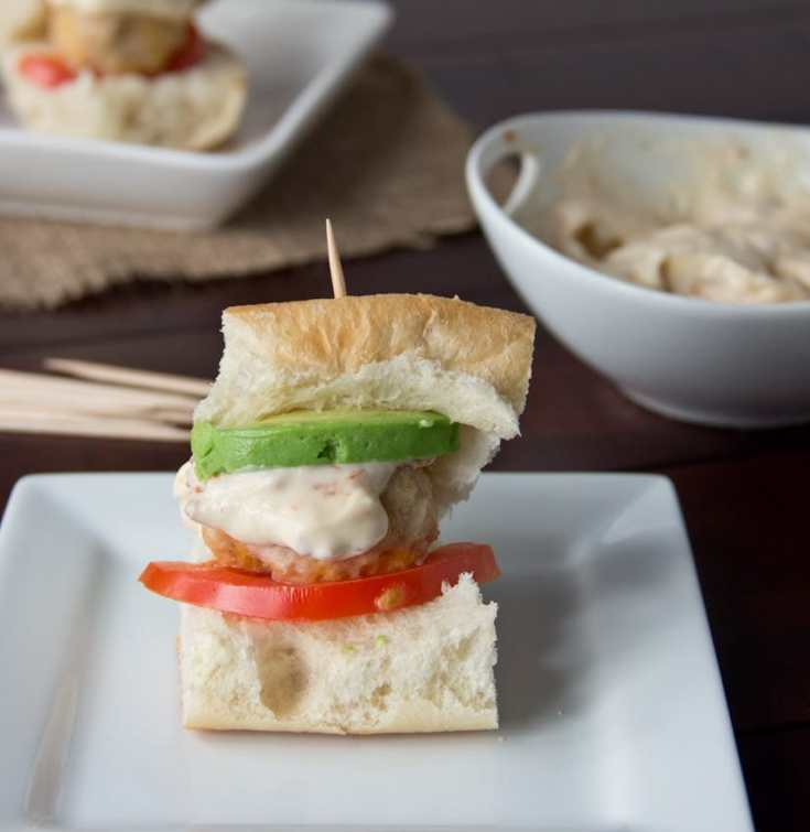 Chipotle Chicken Meatball Sliders