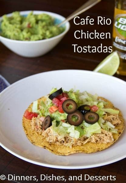 Cafe Rio Chicken Tostada
