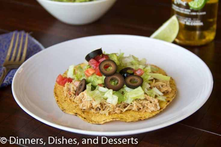 Cafe Rio Chicken Tostadas