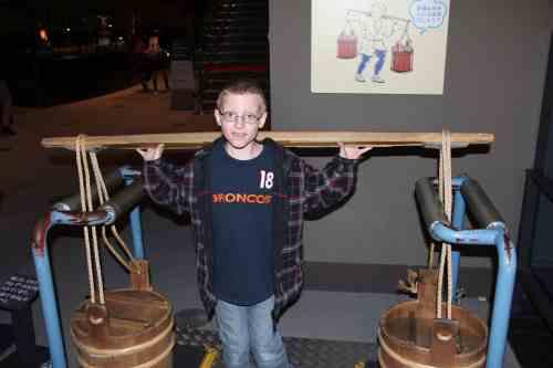 kid at museum