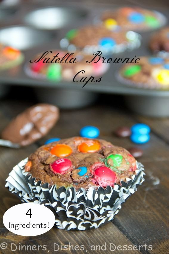 Nutella Brownie Cups