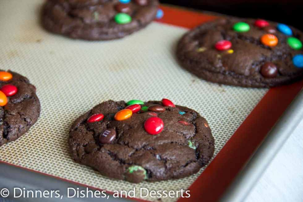 Chocolate M&M Cookies | Dinners, Dishes, and Desserts