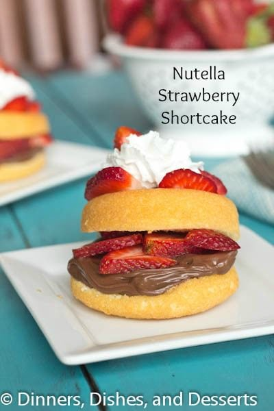 Nutella Strawberry Shortcake | Dinners, Dishes, and Desserts