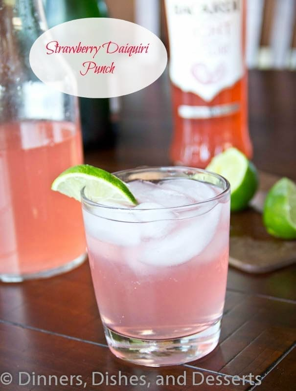 Strawberry Daiquiri Punch #recipe