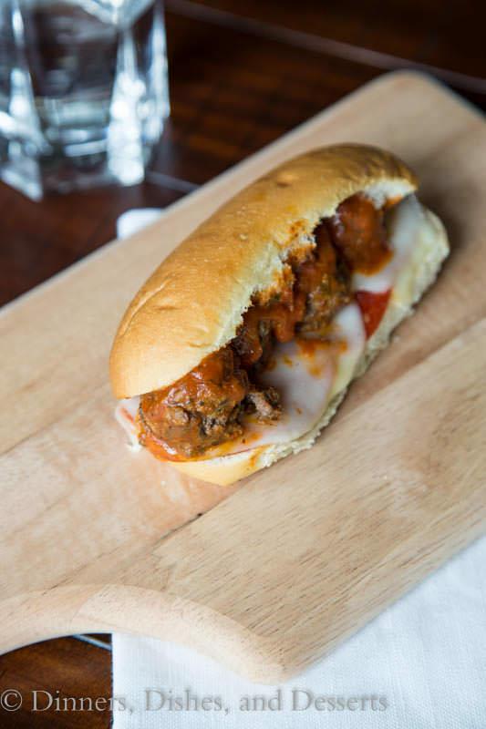 Bruschetta Meatball Subs
