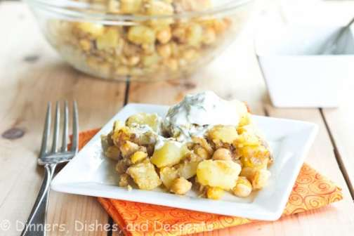 Curried Potatoes with Chickpeas
