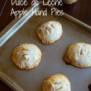 dulce de leche apple hand pies in a pan