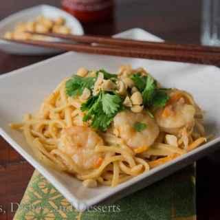 One Pot Thai Shrimp Pasta