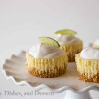 Mini Key Lime Cheesecakes | Dinners, Dishes, and Desserts