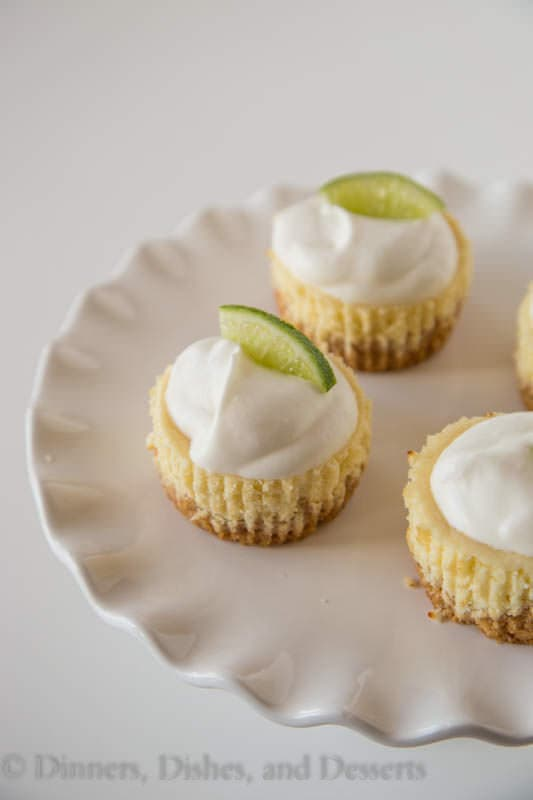 Mini Key Lime Cheesecakes - Perfectly sweet and tart