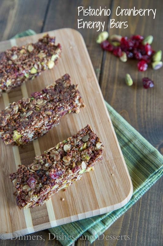 Pistachio Cranberry Energy Bars | Dinners, Dishes, and Desserts