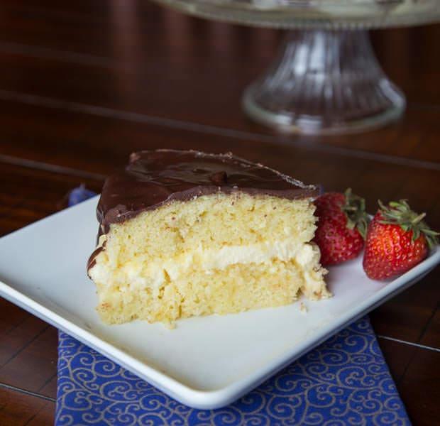 Boston Cream Pie {Dinners, Dishes, & Desserts}