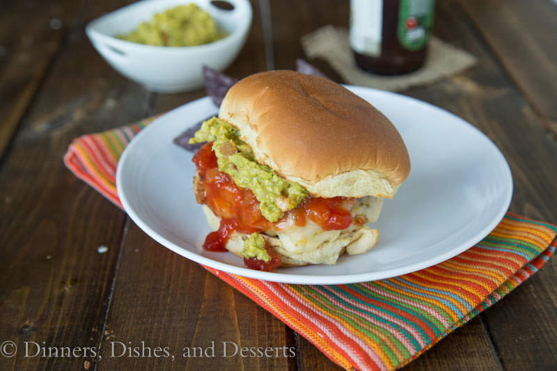 Chicken Taco Burgers {Dinners, Dishes, and Desserts}