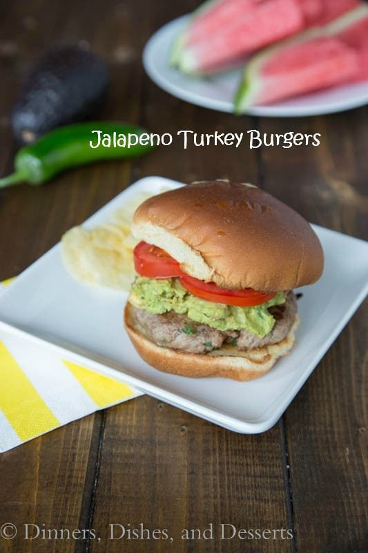 Jalapeno Turkey Burgers - got to love a burger with a little kick!