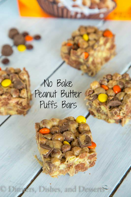 No Bake Peanut Butter Puffs Bars
