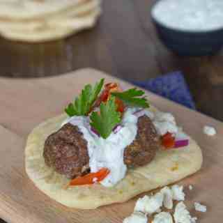 Greek Meatball Sandwiches - quick, easy, and so much flavor