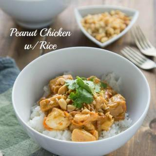 Peanut Chicken with Rice - quick and easy dinner for any night of the week
