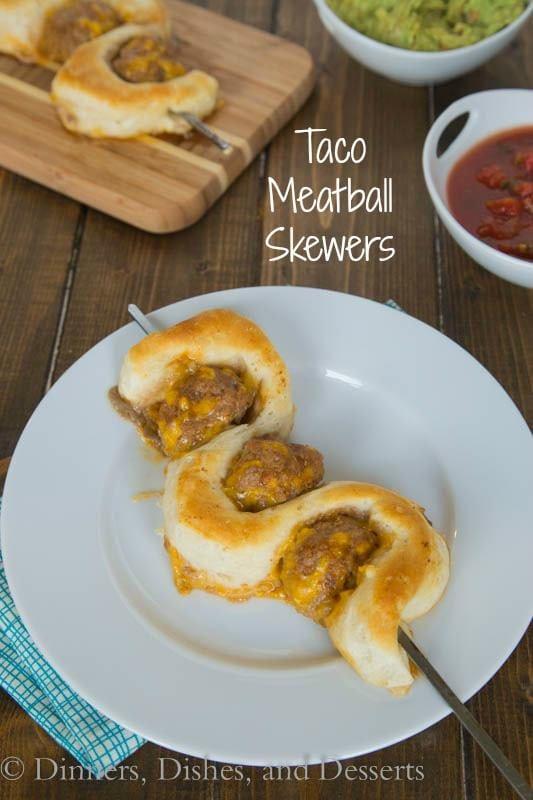 Taco Meatball Skewers