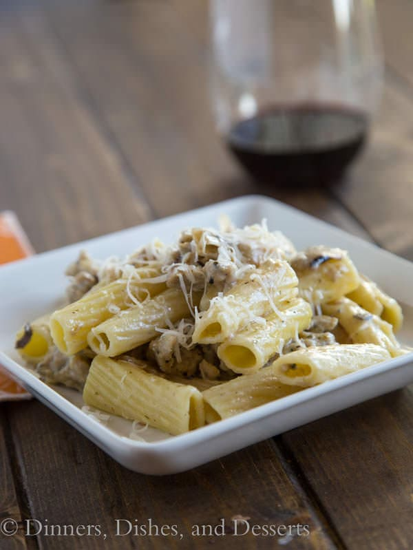 Creamy sausage & artichoke pasta makes an easy after-practice dinner. A one-skillet meal the whole family will devour.