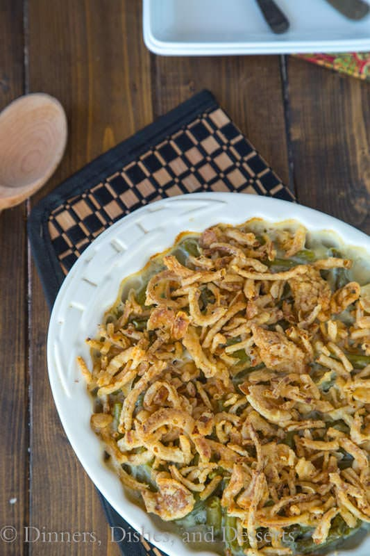 Green Bean Casserole - up your game this holiday season and ditch the canned soup!