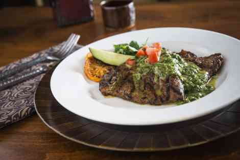 Flat Iron Steak with Chimichurri Sauce {Dinners, Dishes, and Desserts}