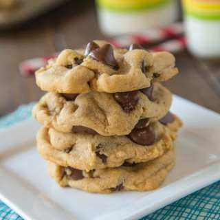 Peanut Butter Chocolate Chip Cookies are soft, fluffy, and full of chocolate and peanut butter!